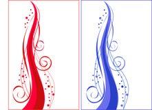 blå prydnadredspiral Royaltyfria Bilder