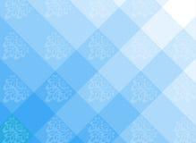 Blå prydnadsida Arkivbilder