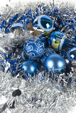 blå prydnadxmas Royaltyfria Foton
