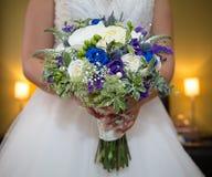 Blå purpurfärgad bukett Arkivfoto