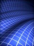 blå räknad yttersida för raster 3d Stock Illustrationer