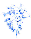blå rökwhite Royaltyfria Bilder