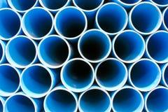 blå rørpvc Arkivbild