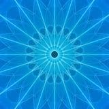 blå ractal stjärna Royaltyfri Foto