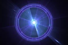 Blå radar- eller sonarskärm Arkivfoto
