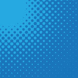 blå radial för pil Arkivfoton