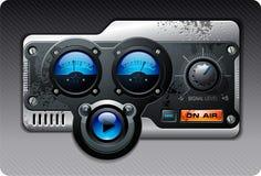 blå radio Arkivfoton