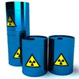 blå radioaktiv avfalls för trumma 3d Arkivbilder