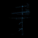 blå radiotv för antenn Royaltyfri Bild