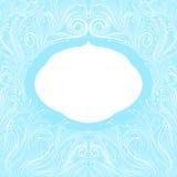 Blå ram Royaltyfria Bilder