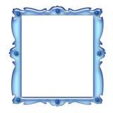 blå ram Arkivbilder