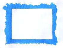 blå ram Royaltyfri Fotografi