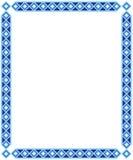 blå ramfyrkant Royaltyfri Fotografi