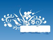 blå ramgrunge Royaltyfri Fotografi