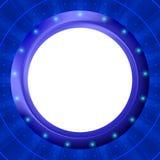 blå ramhyttventil för bakgrund Royaltyfria Bilder