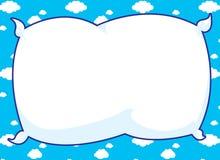 blå ramkudde Arkivbild