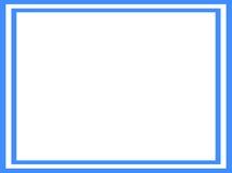 blå ramwhite Fotografering för Bildbyråer