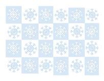 blå rastersnowflake royaltyfri illustrationer