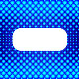Blå rastrerad bakgrund med det vita banret. Vektor Illustrationer