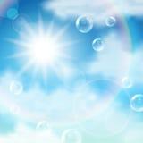 blå regnbågesky Arkivbild