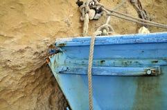 Blå relik på ockragräns Royaltyfri Foto