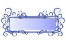blå rengöringsduk för logosidaswirls vektor illustrationer
