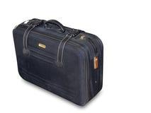 blå resväska Arkivbild