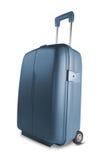 blå resväska arkivbilder