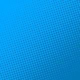 Blå retro humorboksidabakgrund Rastrerad effekt royaltyfri illustrationer