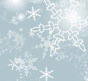 Blå retro vinterbakgrund Vektor Illustrationer
