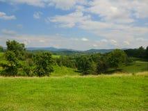 Blå Ridge bergskedja från äng Royaltyfria Foton