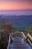 Blå Ridge morgon arkivbild