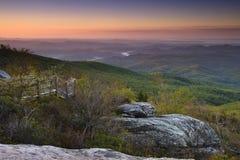 Blå Ridge morgon arkivfoton