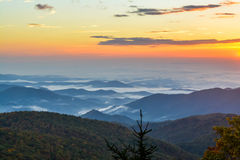 Blå Ridge morgon Royaltyfri Fotografi