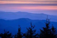 Blå Ridge solnedgång Fotografering för Bildbyråer