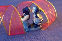 blå romantiker Arkivfoto