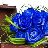Blå rosbukett Royaltyfri Foto