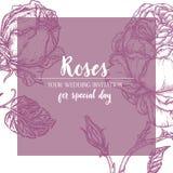 Blå Rose ram Royaltyfria Foton