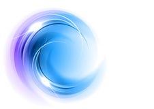 Blå round Royaltyfri Bild