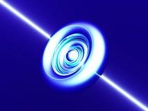 Blå rund cirkel Royaltyfria Bilder
