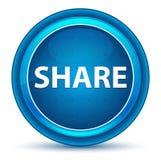 Blå rund knapp för aktieögonglob stock illustrationer