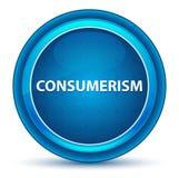Blå rund knapp för Consumerismögonglob stock illustrationer
