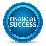 Blå rund knapp för finansiell framgångögonglob royaltyfri illustrationer