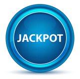 Blå rund knapp för jackpottögonglob stock illustrationer