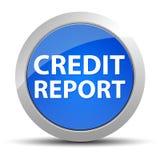 Blå rund knapp för kreditupplysning royaltyfri illustrationer