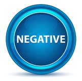 Blå rund knapp för negativ ögonglob royaltyfri illustrationer
