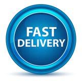 Blå rund knapp för snabb leveransögonglob stock illustrationer