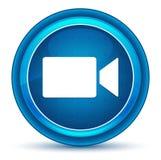 Blå rund knapp för videokamerasymbolsögonglob royaltyfri illustrationer