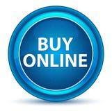 Blå rund knapp köpför online-ögonglob vektor illustrationer