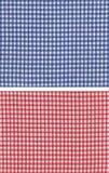 blå rutig red Arkivbild